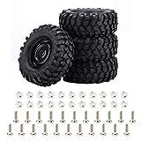 Dilwe 4pcs / Set pneus en Caoutchouc Accessoire pour 1:10 Rock Crawler RC Voiture
