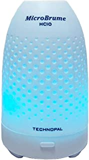 テクノパル 次亜塩素酸水専用超音波式噴霧器 ミクロブリューム HClO [イルミネーション7色LED] 【USB給電/50ml】 MicroBrume HClO ホワイト TPUA-H50MB-WT