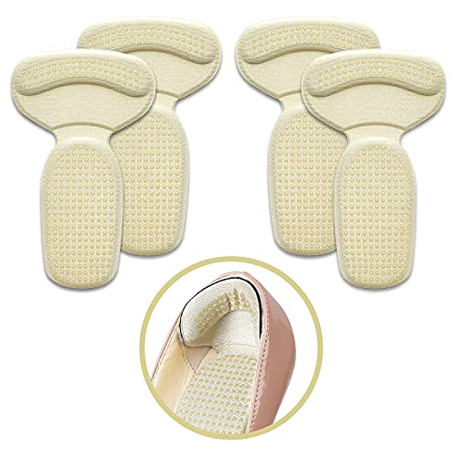 2021 Extra Grip Design Heel Cushion Pads - Shoe Heel Grip Shoe Pads - Shoe Back Heel Pads to Prevent Blisters, Calluses & Loose Shoes - Fit Most Shoes - Invisible (2 Pairs)