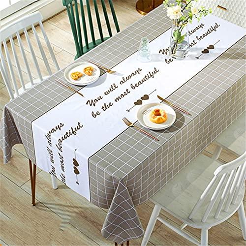 SUNFDD Mantel De Tela A Prueba De Aceite Mesa De Arte Ins Viento Mantel Rectangular Nórdico PVC Mesa De Café Cojín Mesa De Comedor Mesa De Comedor Paño De Escritorio Engrosado 138x180cm(WxH) G