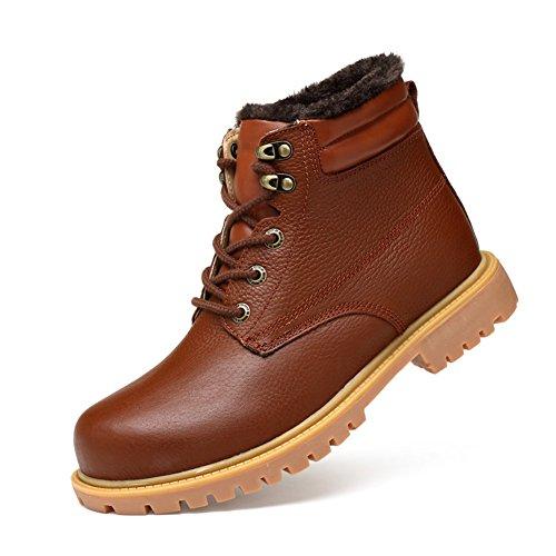ailishabroy Zapatos Clásicos Cálidos de Invierno Botas Cortas para Hombre