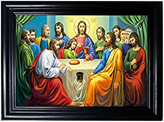 LAST SUPPER FRAMED Wall Art-Lenticular Technology Causes The Artwork To Flip-MULTIPLE PICTURES IN ONE-HOLOGRAM Type Images Change--MESMERIZING HOLOGRAPHIC Optical Illusions By THOSE FLIPPING PICTURES