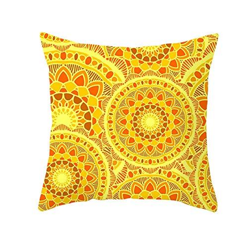 LIUXU Funda de almohada clásica de microfibra amarilla con diseño de hojas de piña y antiarrugas