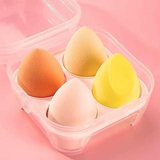 Make-upsponsenset, latexvrije beautyblender, mengspons met meerdere kleuren Geschikt voor poederfoundation, geel, 4 stuks