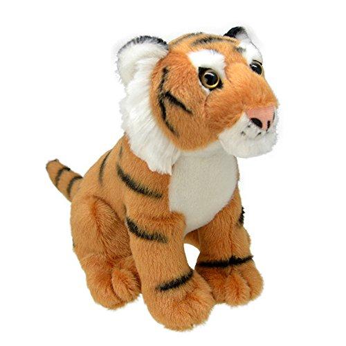 Wild Planet All About Nature-26 cm Tigre-Fait à la Main, Peluche réaliste, Multicolore (K8231