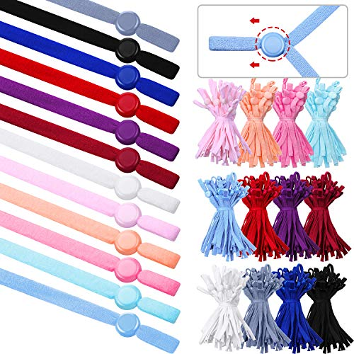 240 Pieces Adjustable Buckle with Sewing Elastic Band Cord Cover Ear Hook Strap Elastic Adjustment Buckle Reducing Pressure Ear Extender Anti-Tightening DIY Making Supplies Accessories (Colorful)