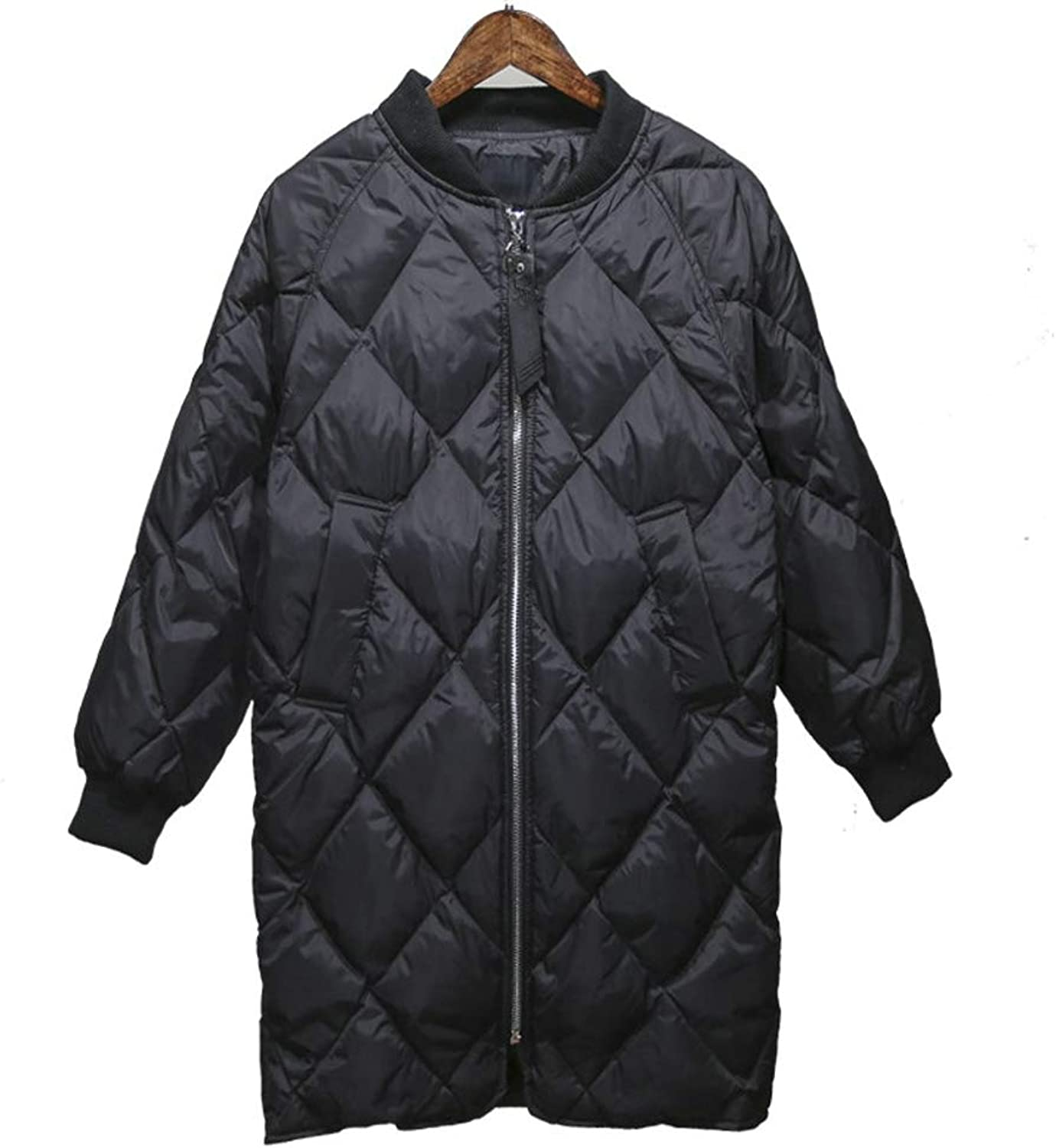 Dotoo Winter Ultra Light Ladies 90% White Duck Down Loose Long Paragraph Warm Down Jacket