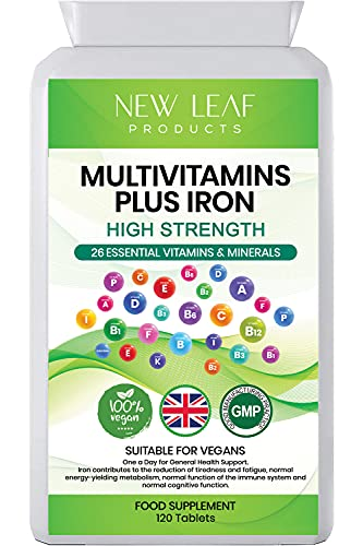 High Strength 26 Multivitamins & Minerals With Iron For Men And Women –...