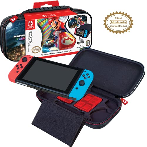 Officially Licensed Nintendo Switch Mario Kart 8 Deluxe Carrying Case – Protective Deluxe Travel Case with Adjustable Viewing Stand - Game Case Included