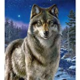 Jigsaw Puzzles for Adults 6000 Piece - Wolf Standing on The Snow - Wooden Jigsaw Puzzle Educational Family Game Toys Gift for Adults Teens(218 X 105 cm)