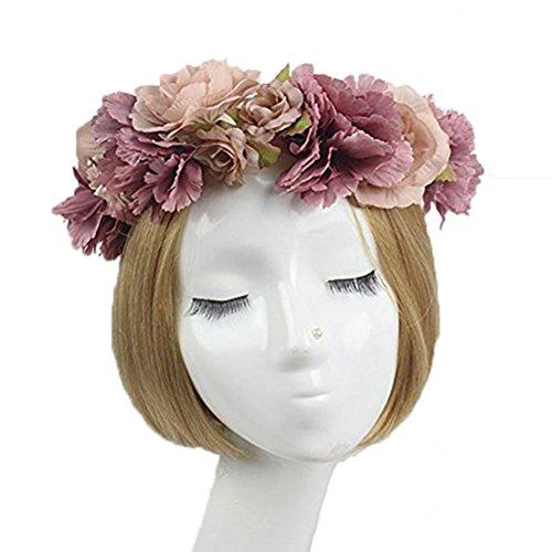 ROSENICE Blumenkrone Blumenkranz Girlande Haarband Hochzeit Kopfband Haarkranz Blume Krone
