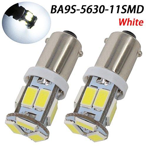 TABEN 2 pièces BA9s 64111 T11 T4W Ampoule LED 5630 Jeu de puces 11smd Carte intérieure de Voiture dôme de courtoisie Coffre Plaque d'immatriculation boîte à Gants marqueur latéral Ampoule Blanche 12V