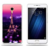fubaoda Meizu M3 Max Meiblue 3 Max Hülle, [Tower Night] Silicon Clear TPU Slim Fit Shockproof Flexible 3D Chic Design Ultra Thin Lightest Easy Grip Durable Flex für Meizu M3 Max Meiblue 3 Max