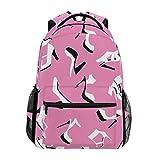 TIZORAX rosa tacco alto scarpe scuola con zaino Bookbag escursionismo viaggio zaino