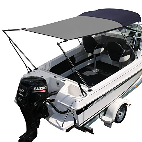 Oceansouth Bimini Extension Airflow Boat Shades, Extends up to Length 66' x Width 56'