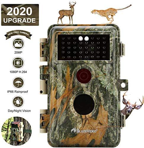 BlazeVideo 16MP 1080P Wildkamera Beutekamera, Digitale Wildtier Kamera mit Bewegungmelder und Nachtsicht, IP66 Wasserdicht, 2,4