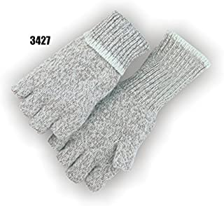 Majestic Glove 3427/10 Fingerless Rag Wool Knitted Gloves, Large, Gray (Pack of 12)