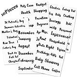 128 Pieces Cash Envelope Label Sticker Cash Envelope System Budget Stickers Budget Planner Vinyl Sticker for A6 Binder Cash Envelopes 6 Ring Binder Notebooks Bill Planner (Lowercase)