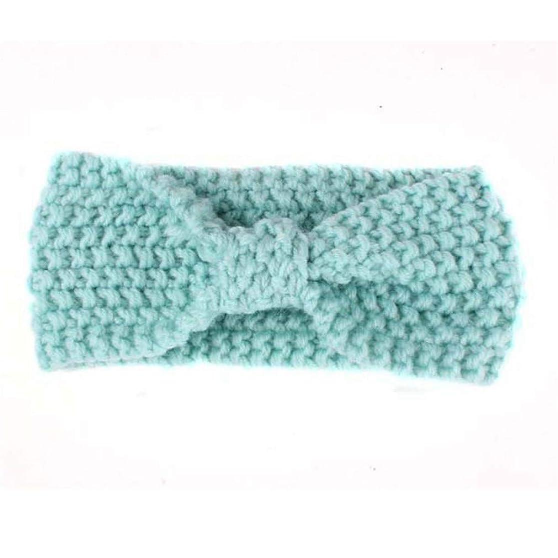 New Knit Headband Crochet Top Knot Elastic Turban Girls Head Wrap Ears Warmer Headwear light blue mytnfadh9