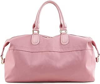 Woman Fashion Handbag, Travel Luggage Shoulder Bag, Large Foldable Duffle Bag, Sports Gym Bag, Adjustable Shoulder Strap, Overnight Camping (Color : Pink)