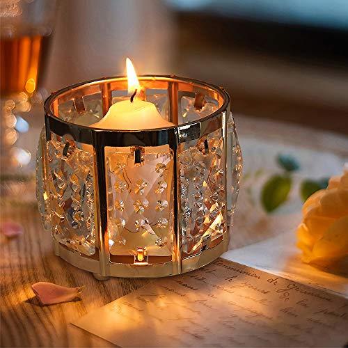 VINCIGANT Candle Holder Gold Tea Light Holders for Living Room Ornaments Golden Wedding