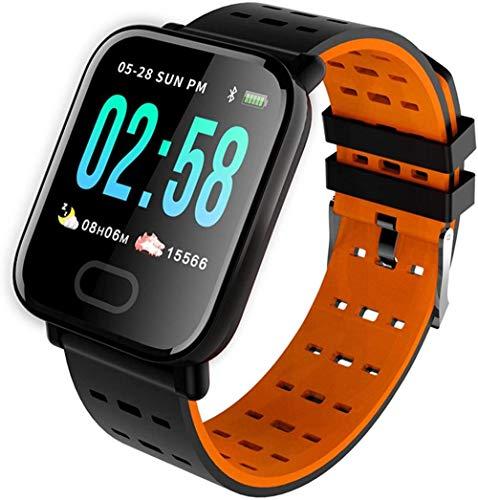 Reloj Inteligente 1 3 Pulgadas Pantalla Fitness Tracker Deportes Podómetro Pulsera Mensaje Push Recordatorio Inteligente IP67 Impermeable 180mAh-Naranja