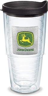 حمالة صدر Tervis 1092265 John Deere - شعار كلاسيكي مع شعار وغطاء أسود 63.5 جم، شفاف