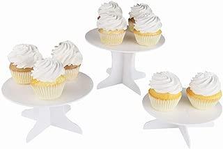 Three Piece Dessert Stand Set - Party DIY Round Display Stand