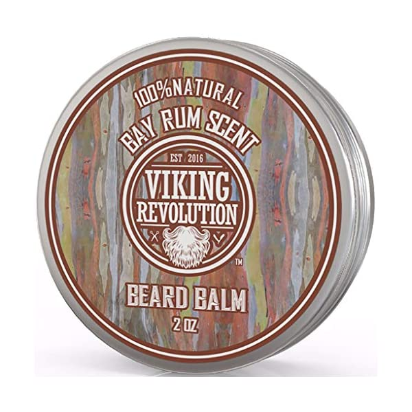 Beard Balm with Bay Rum Scent and Argan & Jojoba Oils - Styles, Strengthens & Softens Beards & Mustaches - Leave in… 1