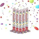 Party Factory 5 Party Popper, 40 cm, buntes Konfetti, Konfettiregen für Hochzeit, Geburtstag oder Silvester