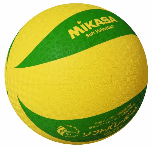 ミカサ ソフトバレーボール 小学校ソフトバレーボール試合球 1~4年生用 イエローXグリーン