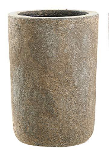 Emsa 800098 Fiberglas Blumenkübel Pflanzkübel Übertöpfe Osset Old Stone 47cm