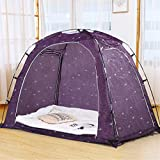 Goplus Bed Tent, Indoor Privacy Play Tent for Warm and Cozy Sleep in Drafty Rooms, Portable Bed Canopy with Carry Bag for Kids and Adult (Twin)