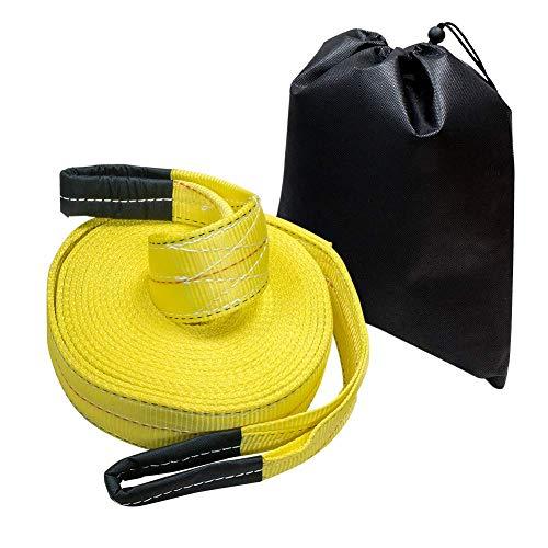 Amazon Basics - Correa de remolque, 7.6 cm x 9.1 m, 13607kg de resistencia a la rotura, cuerda de tracción de alta resistencia incluida, pack de 1, color amarillo
