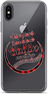 iPhone 7/8 Pure Clear Case Crystal Clear Cases Cover Flip Flops Sun Block Ballin Nonstop Funny Baseball Transparent