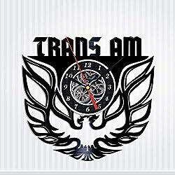 Trans Am Vinyl Record Wall Clock - Original HANDMADE Auto-Racing Gift for Men