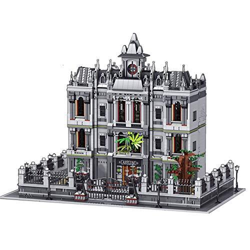 PEXL Juego de construcción de bloques de construcción para casa, 4 pisos, modelo de arquitectura modular de Irrenhaus 7620 bloques de construcción compatibles con Lego