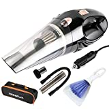 Reserwa 5th Gen Car Vacuum Cleaner 12V 106W Car Hoover 4500PA Much Stronger Suction Potable Handheld Auto Vacuum Cleaner with 16.4FT(5M) Power Cord, Carrying Bag, Cleaning Brush (Black)
