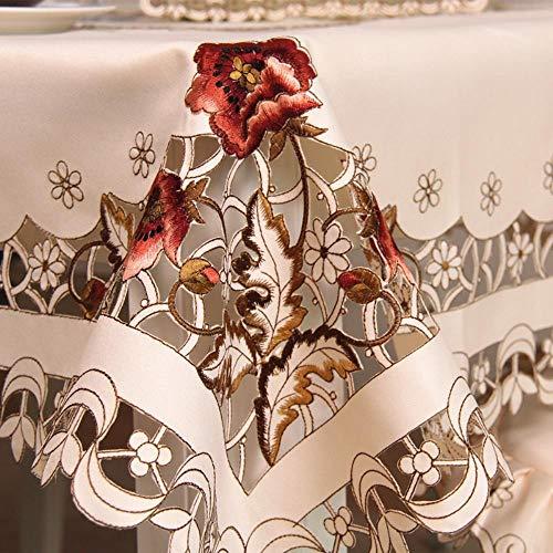 Europa mantel bordado mesa comedor cubierta de mesa de mesa de mantel de boda flor silla cubierta de tela de hogar