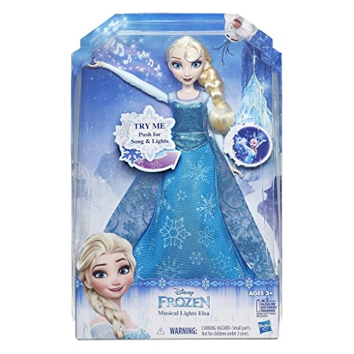 Hasbro Disney Frozen: Musical Lights Elsa Chica - Figuras de Juguete para niños, 3 año(s), Chica, Dibujos Animados, Frozen, AAA
