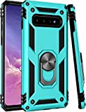 Galaxy S10 Case,(NOT for Big S10+ Plus ZADORN 15ft Drop Tested,Military Grade Heavy Duty Protective Cover Car Mount Kickstand Phone Case for Samsung Galaxy S10 6.1' Green