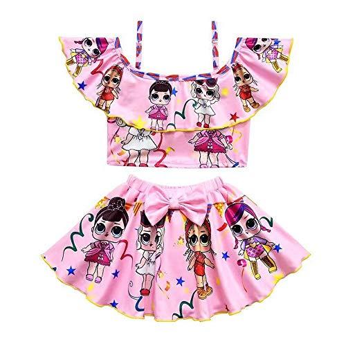 Tianhaik Baby Girls One-Piece Donuts Swimwear Bathing Suit Swimsuit Beachwear Clothes