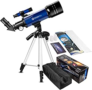 Telescope for Kids Beginners Adults, 70mm Astronomy Refractor Telescope with Adjustable Tripod & Carry Bag- Perfect Telescope Gift for Kids from CSSEA