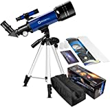 Telescope for Kids Beginners, 70mm Astronomy Refractor Telescope with Adjustable Tripod & Carry Bag- Portable Travel Scope for Adult Children