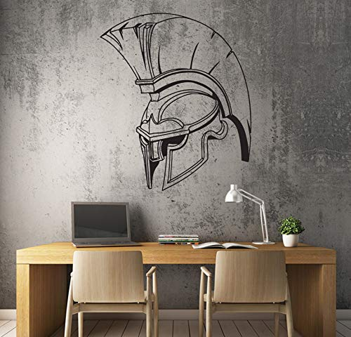 Tamengi Adhesivo decorativo para pared con diseño de casco espartano de la antigua Grecia Guerrero de 127 cm