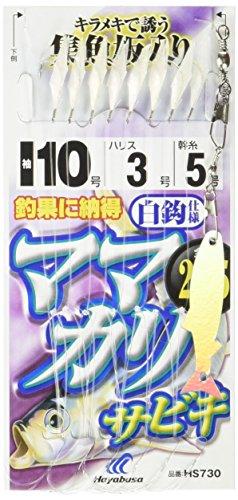 ハヤブサ(Hayabusa) これ一番 ママカリサビキ 白袖 8本鈎 6-1.5 HS730-6-1.5