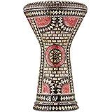 Darbuka Egipcia Gawharet El Fan - Tambor de Mano Derbake Árabe Doumbek de Aluminio con Cabeza Blanca de Malik Instruments - El Modelo Fuchsia Orchid
