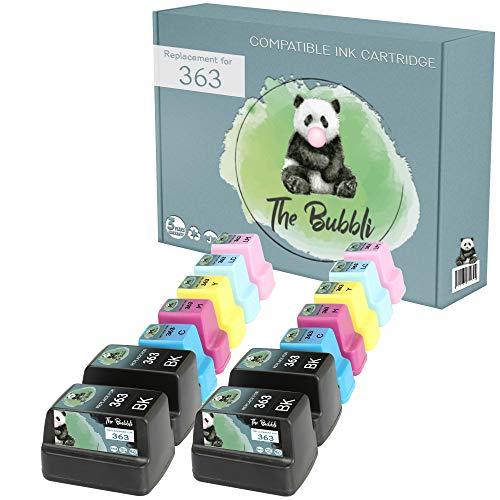 The Bubbli Original | 363 XL Cartucho de Tinta Compatible para HP Photosmart C6180 C8180 D7360 D7460 C6280 C7250 8250 C5180 D7160 C7180 3310 D7260 3210 C6250 8230 3110 D6160 (14-Pack)