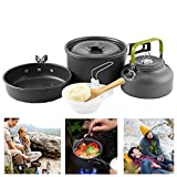 Buycitky Camping Cookware Kit,Camping Accessories Cooking,Lightweight & Nonstick Camping Kettle,Camping Pots,Camping Pans