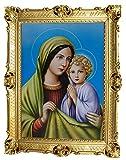 Lnxp M-24 Madre María Magdelena - Marco barroco antiguo con imagen de cuadro de 70 x 90 cm, impresiones artísticas religiosas, arte de santos repro retro para casa, oficina, consulta, café